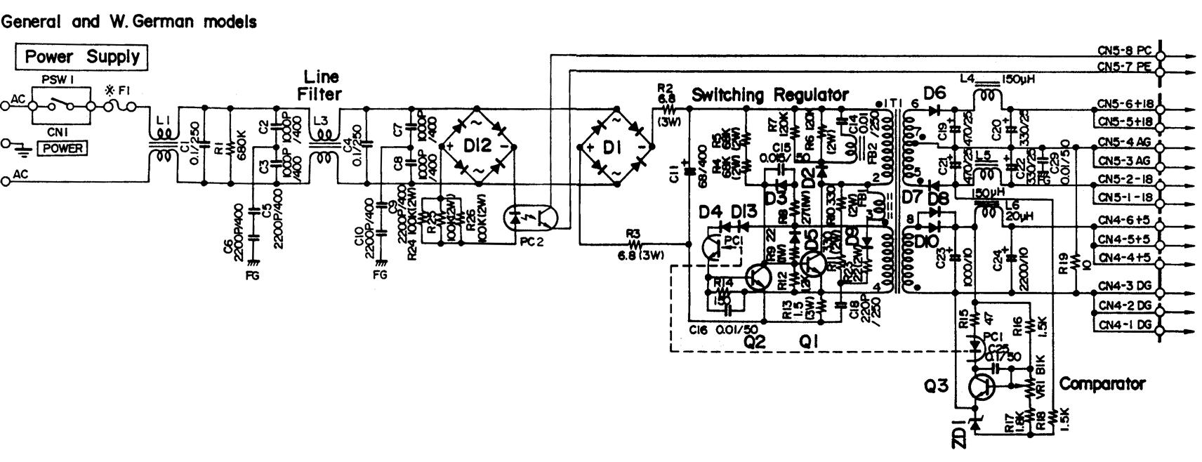SPX90 PSU schematic
